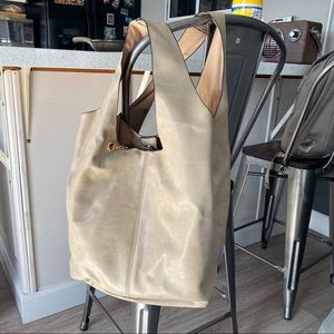 Real Italian leather large tote